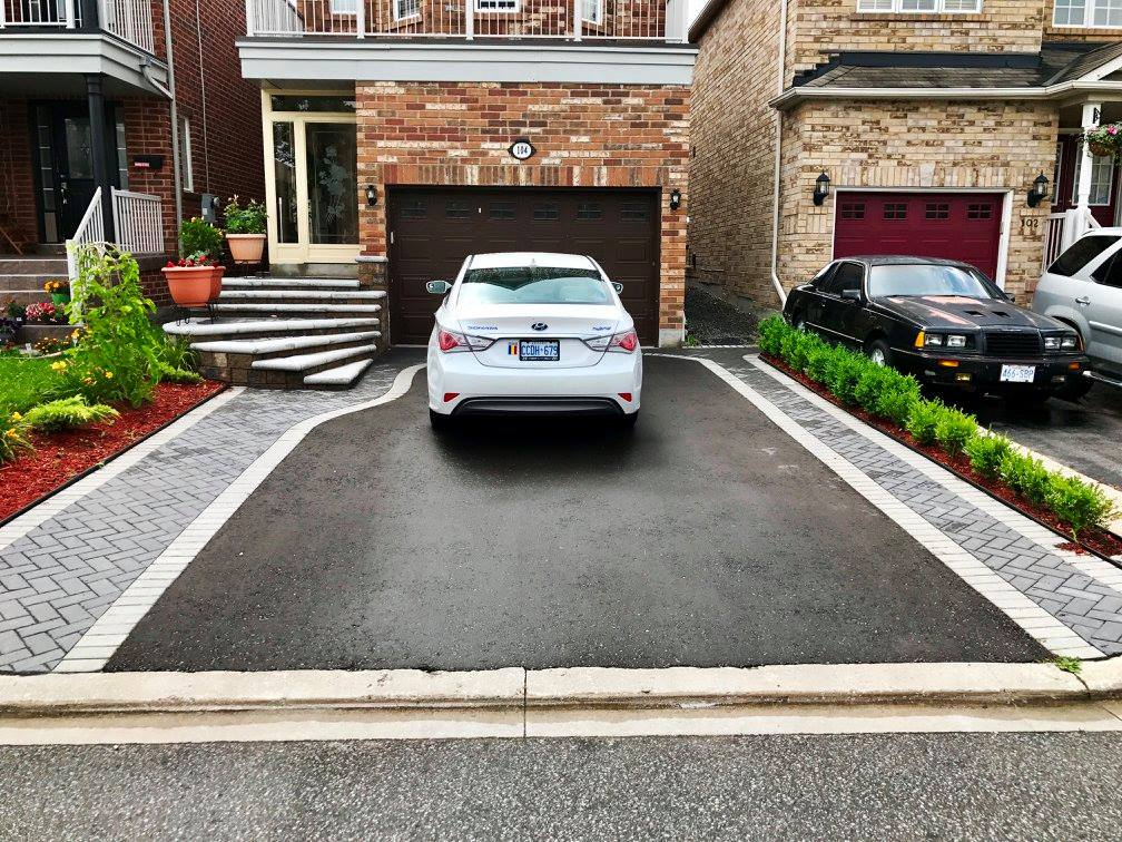 Your new front entrance from Underhill's is designed to incorporate your new driveway if requested.