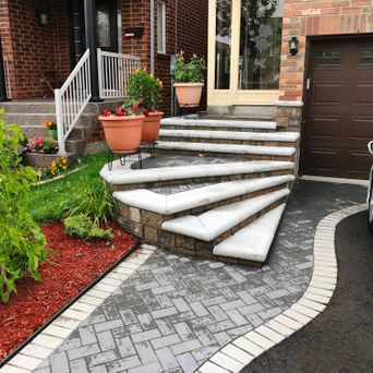 Narrow front property with multiple steps can pose problems for many... Call Underhill's for a design visit for your new front entrance steps.