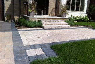 Design capabilities are endless when incorporating a variety of landscape materials.