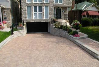 Your sunken driveway can be an attractive focal point in your home.