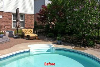 Before - Often an older pool can begin to look outdated and tired. Look to see what we can do to help.