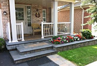 We can transform your plain concrete porch and steps into something beautiful.